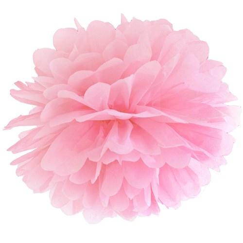 Pom poms - Pastell, Ljusrosa - 35 cm