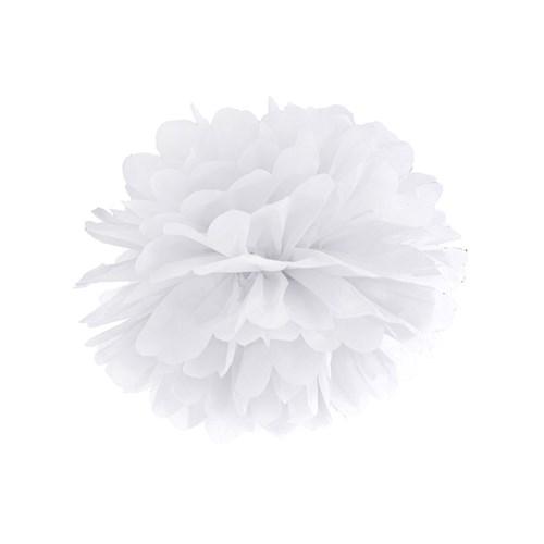 Pom poms - Pastell, Vit - 25 cm