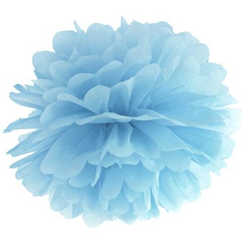 Pom poms - Pastell, Blå - 35 cm