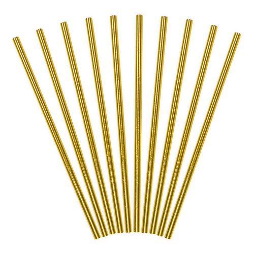 Papperssugrör - Guld (10-pack), Guld