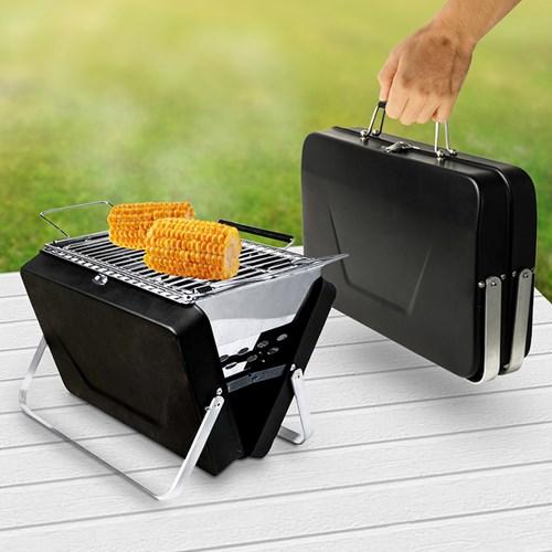 Bärbar grill - BBQ Briefcase Grill, Svart