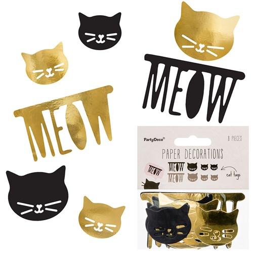 Engångsartiklar - Katter, Pappersdekorationer (8-pack)