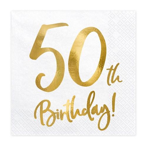 Servetter - Birthday, 50th Birthday