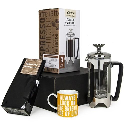 Presentlåda - Kaffe, pressobryggare & kopp, Svart