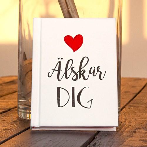 Älskar dig - Romantisk bok med citat, Vit